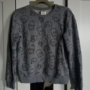Simpson's Grey Crewneck Sweat Shirt Sz Medium